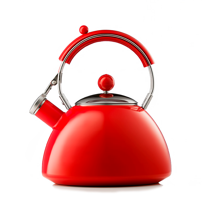 Red Kettle - product photography