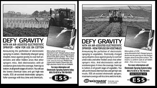 Ads for ESS Crop Sprayers
